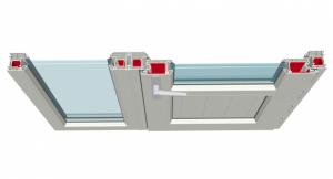 Kale Serisi Balkon Kapı ve Sabit Bağ Profili ile Uygulaması